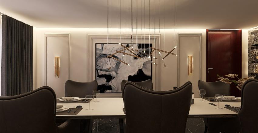 Dining room Interior Design Render