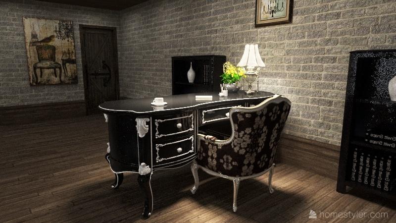 Alvaro's Bedroom Interior Design Render