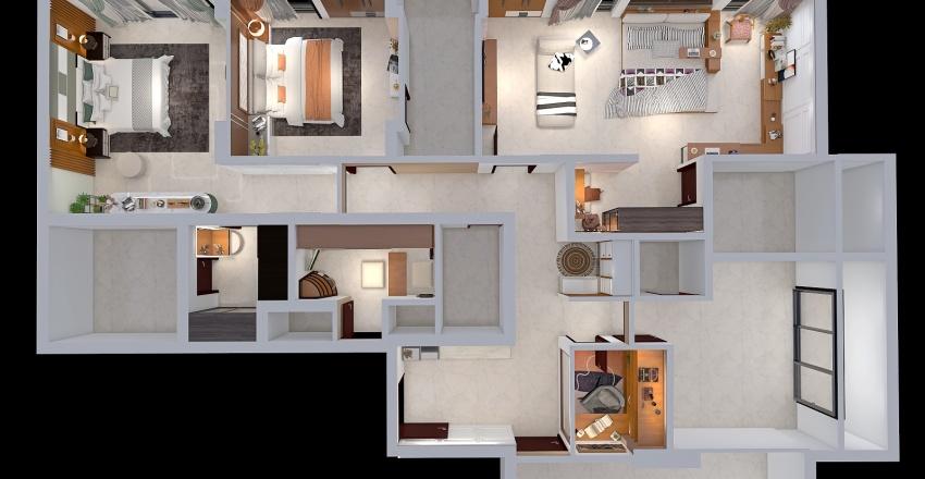 4.5 BHK,Mumbai,India Interior Design Render