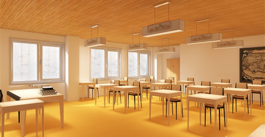 Aula scolastica Interior Design Render