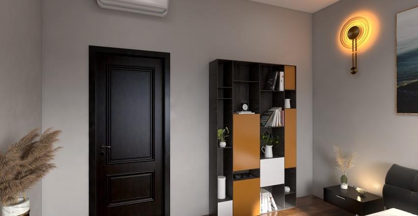 Project 1 - Bathroom, Living Room & Bedroom Interior Design Render
