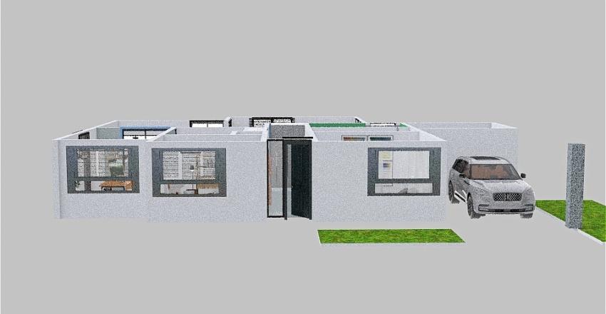 aangepaste ramen en deuren Interior Design Render