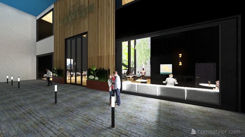 RESTAURANTE14 Interior Design Render