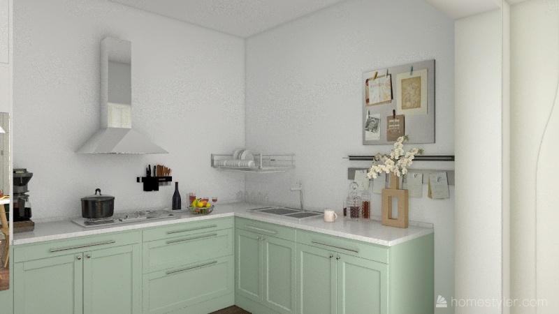 house in bright colors Interior Design Render