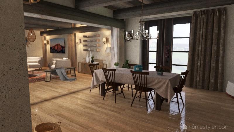 FERMETTE CENTRE FRANCE  Interior Design Render