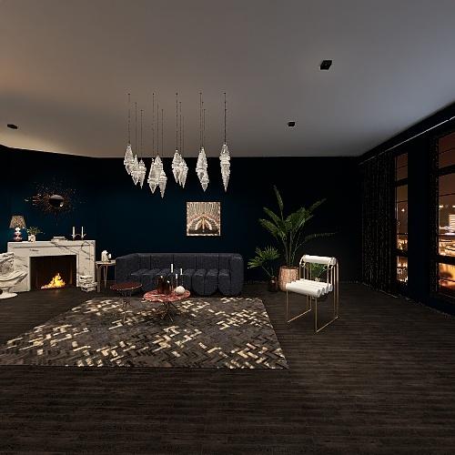 Mnason's Master Bedroom +Balcony Interior Design Render