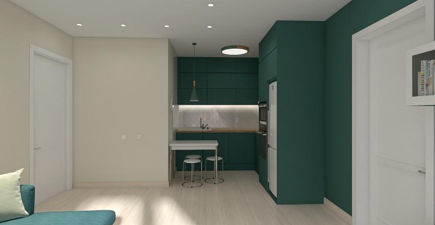 4 вариант Кухня-гостиная АВГУСТ 1 Interior Design Render