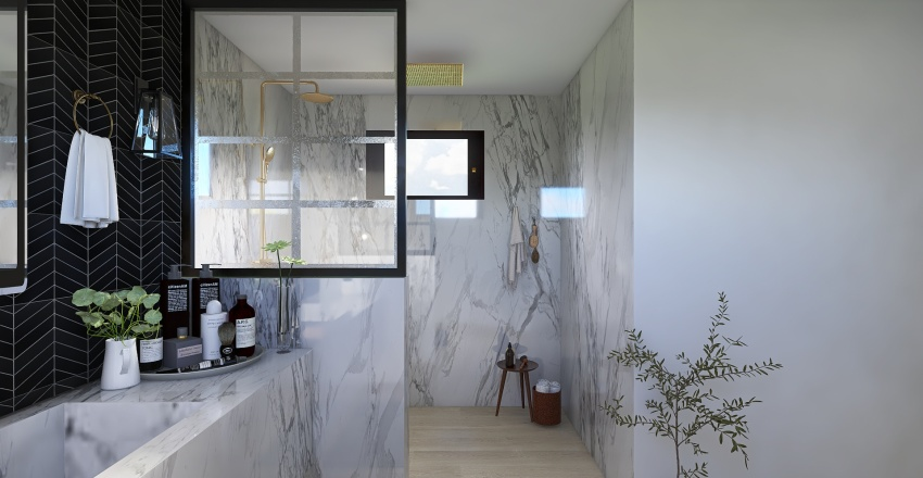 marble slab Interior Design Render