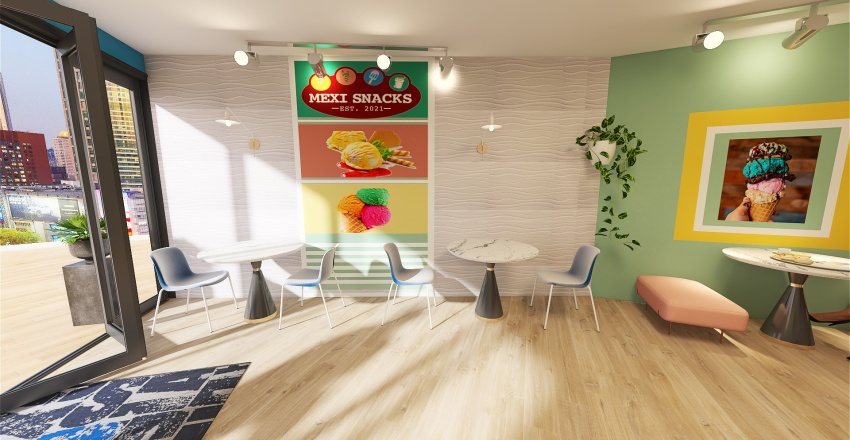 MEXICAN CANDY STORE Interior Design Render