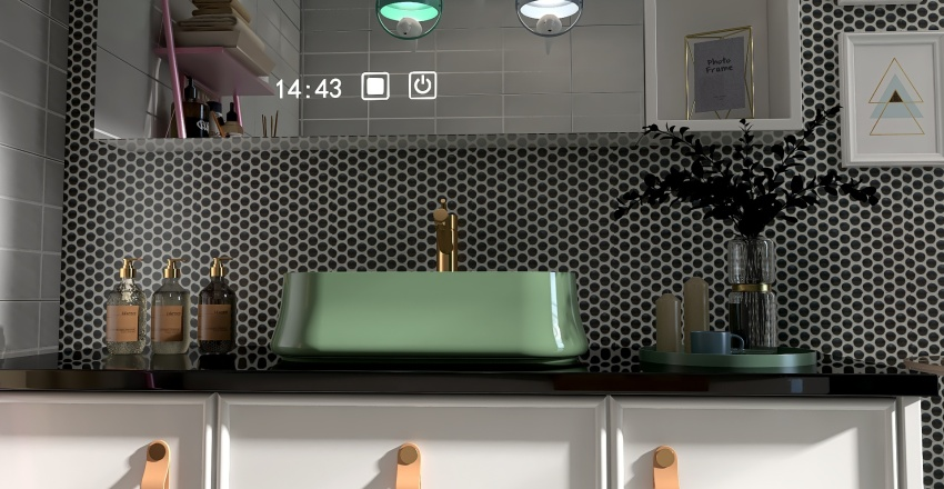The funky honeycomb house Interior Design Render