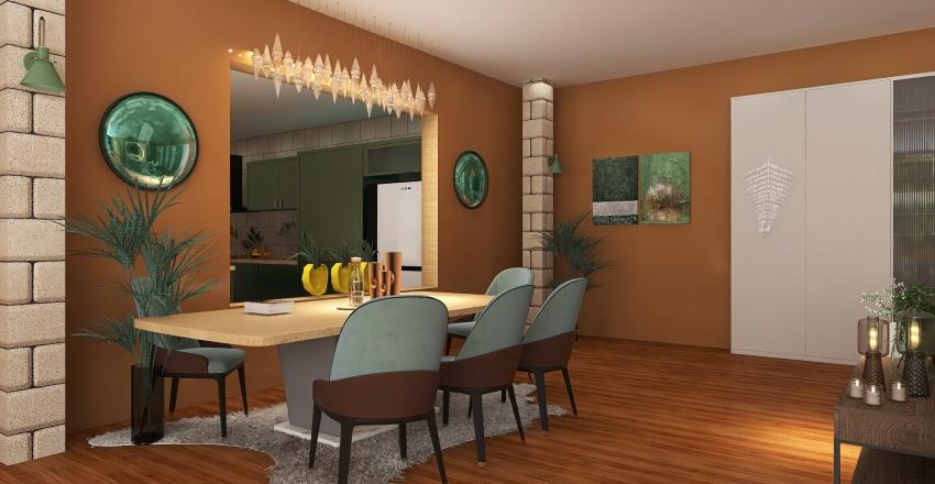 Ormanın içinde Interior Design Render