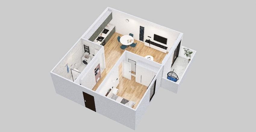 65 m2 small flat Interior Design Render