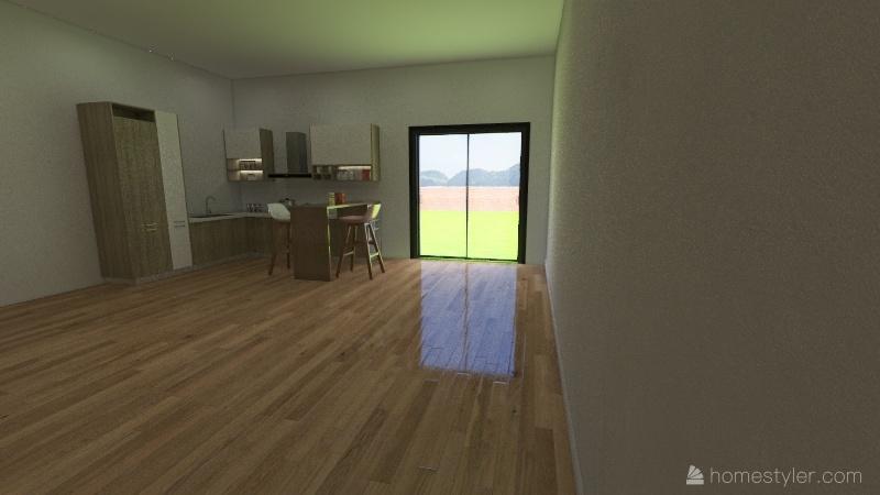 sand cove bungalow Interior Design Render