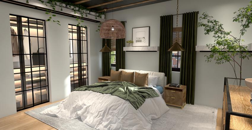 Calm and Cozy Interior Design Render