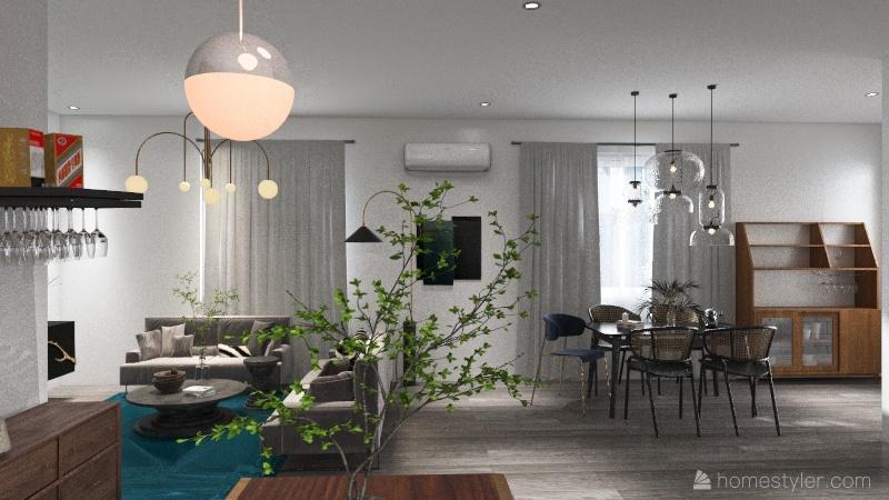 Casa habitación Interior Design Render