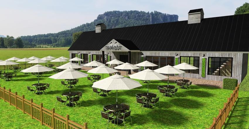 Vermont Beer Garden Interior Design Render