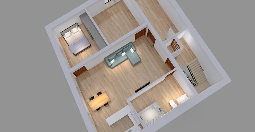 Vrabci - byt Interior Design Render