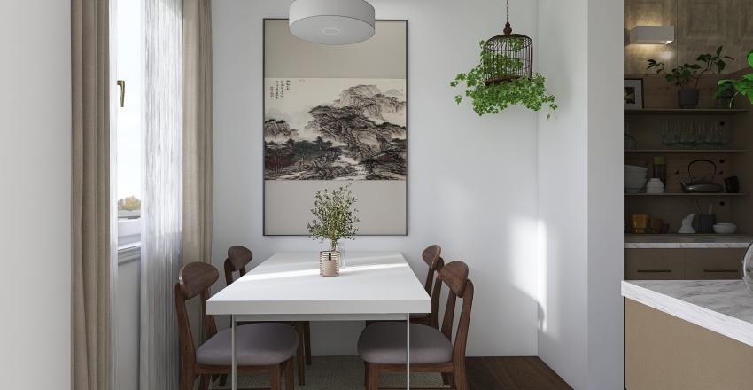 Small family house Interior Design Render