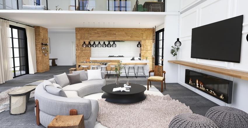 | NATURAL VACATION HOME| Interior Design Render