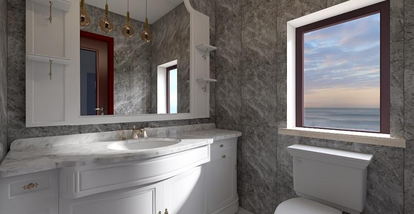Reception And Dining Room Interior Design Render