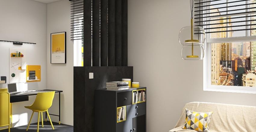 Student studio pantone 2021 Interior Design Render