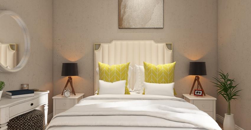 bedroom scandinavia Interior Design Render