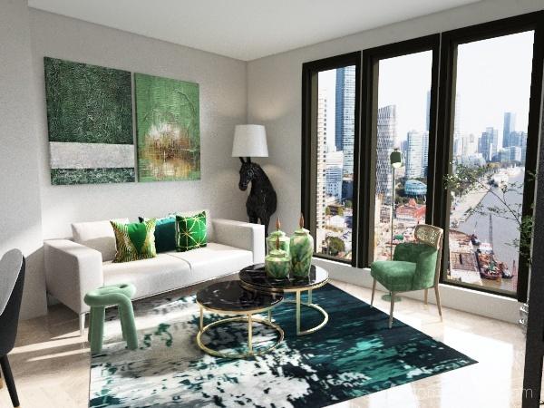 Monocolor - green Interior Design Render