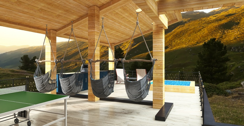 Broken Bow - spa extension Interior Design Render