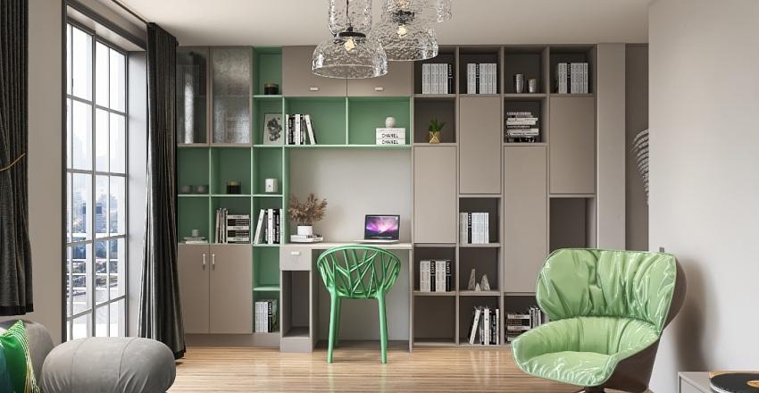 Sage green design Interior Design Render