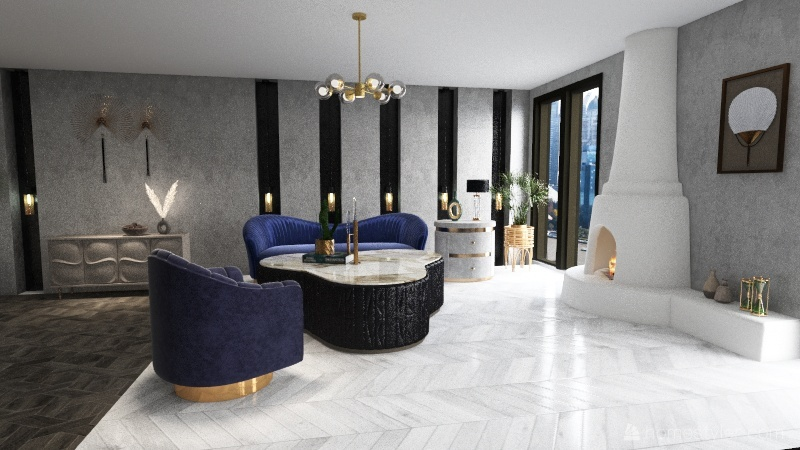 Fancy Interior Design Render