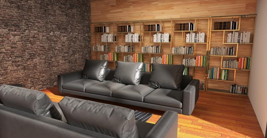 mansión de vacaciones en el bosque  Interior Design Render