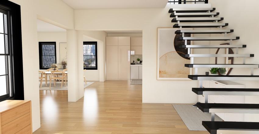 farmhouse chic Interior Design Render