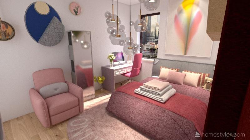Apartment for girls Interior Design Render