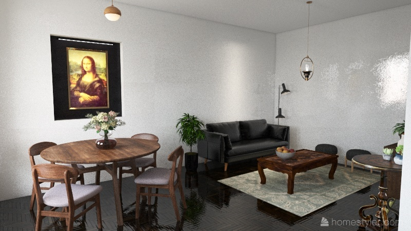Vintage Interior Design Render