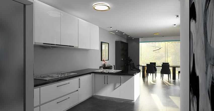 The Fold House - Uni Project Y2 Module 5 Interior Design Render