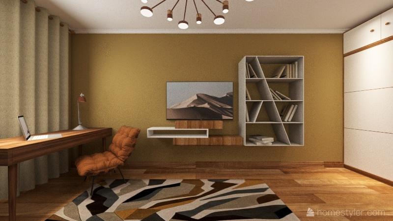 Однокомнатная квартира  Interior Design Render