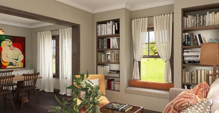 Country Home Interior Design Render
