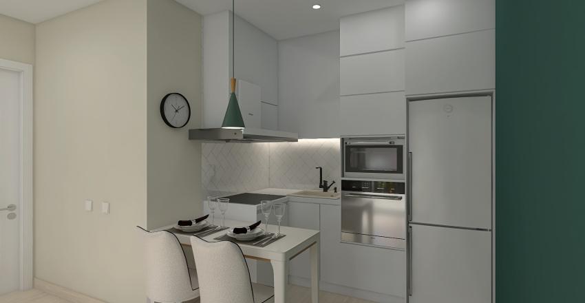 5 вариант Кухня-гостиная АВГУСТ Interior Design Render