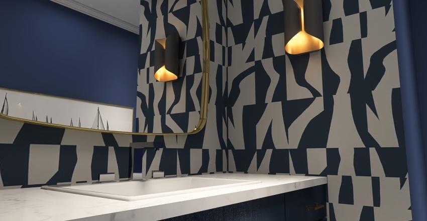 Powder room Interior Design Render