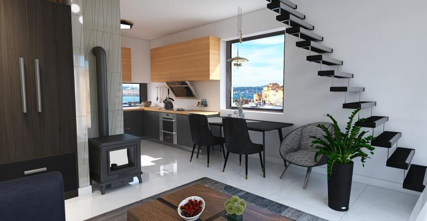 House next to the sea Interior Design Render