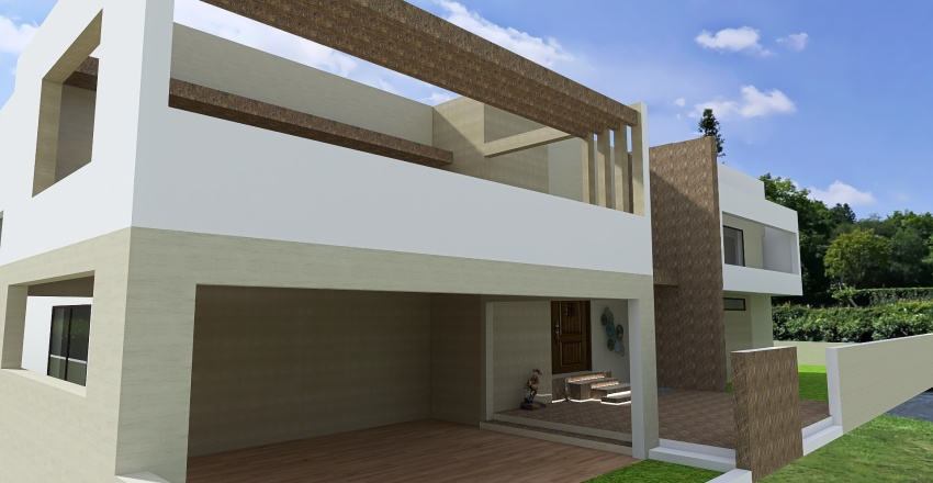 DHA Lahore Floor Plan & Elevations Interior Design Render