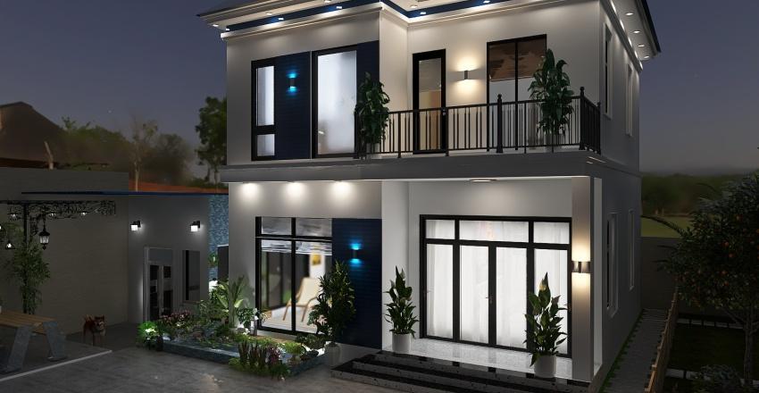 KT House Xanh Interior Design Render