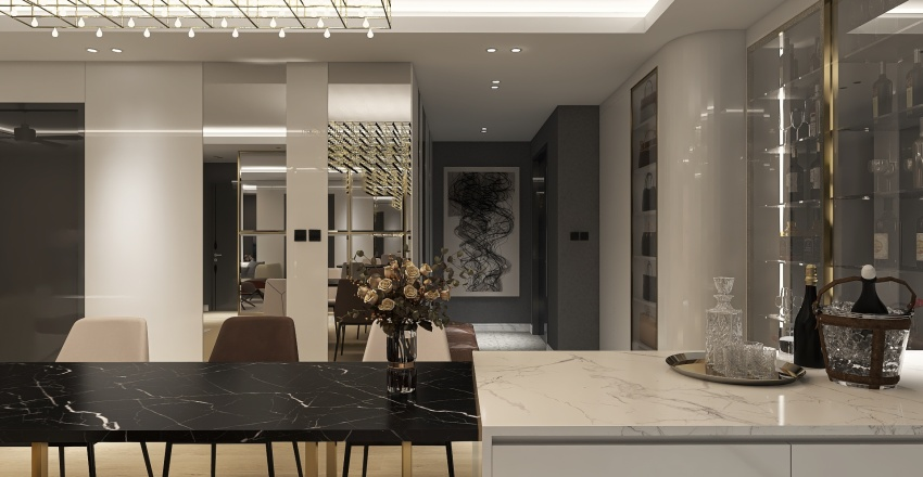 The Antonia apartment over 100 meter square Interior Design Render