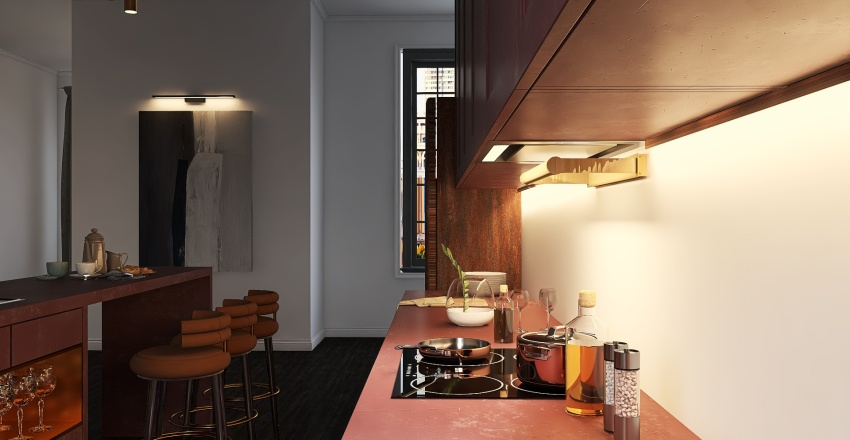 Elegant Apartment  Interior Design Render