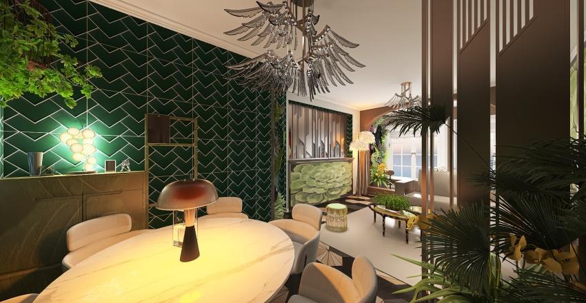 Frivolous Florals Interior Design Render