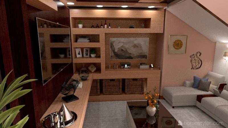 Casa de reuniões e visitas Interior Design Render
