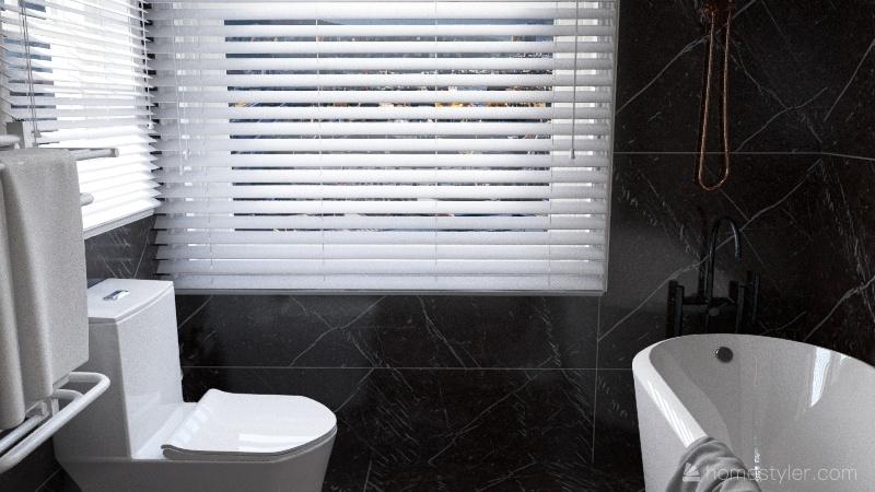Natural Wood Tones Interior Design Render