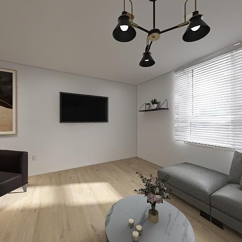 gray living room Interior Design Render