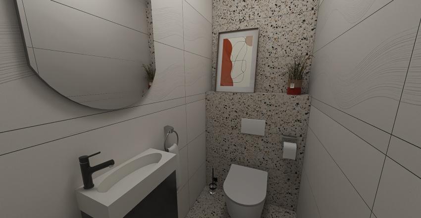 Terrazzo or Marble Interior Design Render