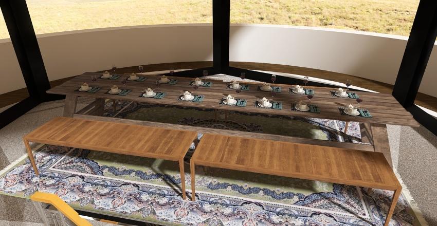 Lighthouse Airbnb Cabin Conversion Interior Design Render